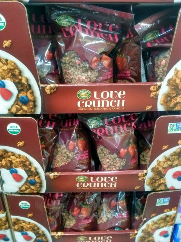 Display of Nature's Path Love Crunch Organic Granola