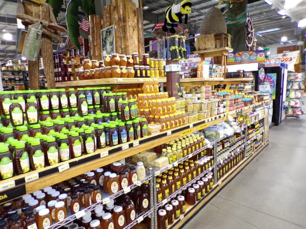 Jungle Jim's honey department