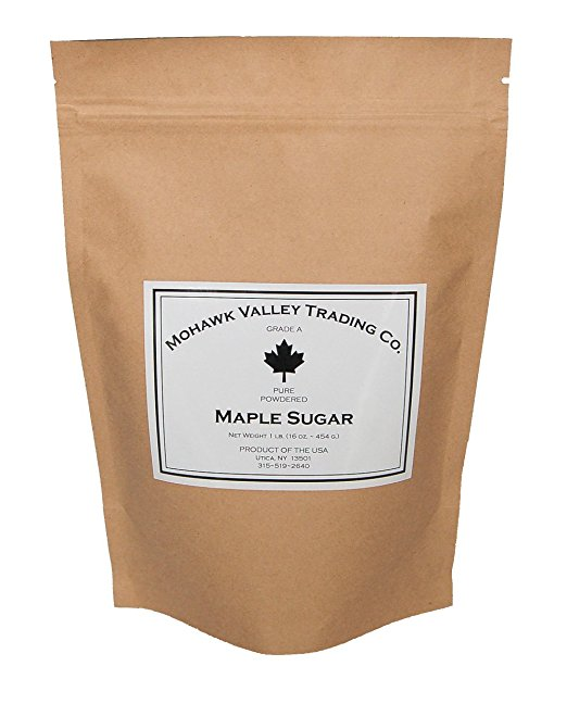 A bag of Mohawk Valley Trading Company Maple Sugar