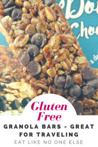 Gluten Free Granola Bars for the Road Pinterest