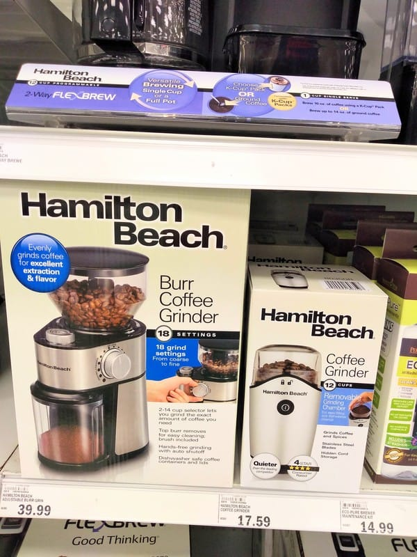 Hamilton Beach Blade and Burr Coffee Grinders