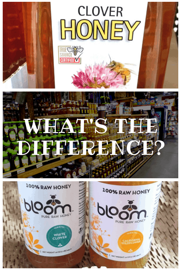 What is Difference clover honey vs wildflower honey