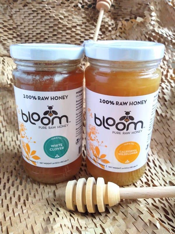 100% raw clover and wildflower honey