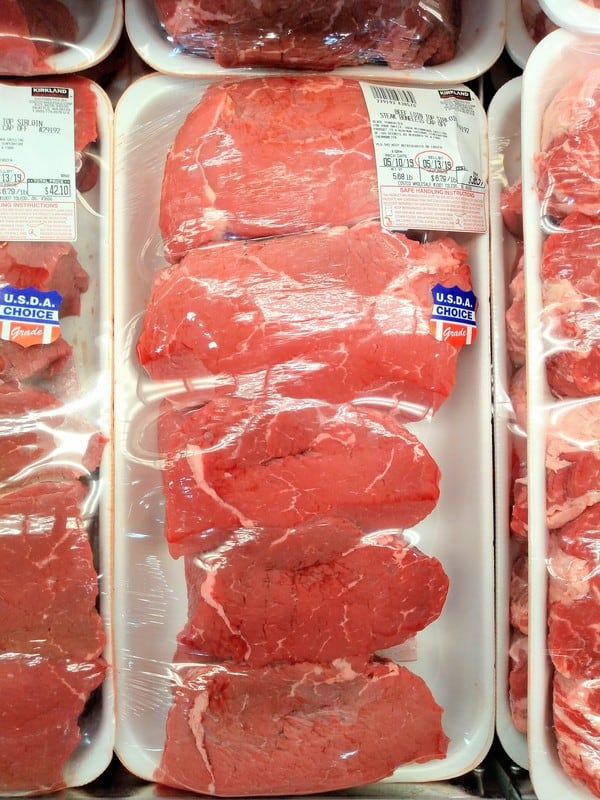 Top sirloin steaks avialable at Costco
