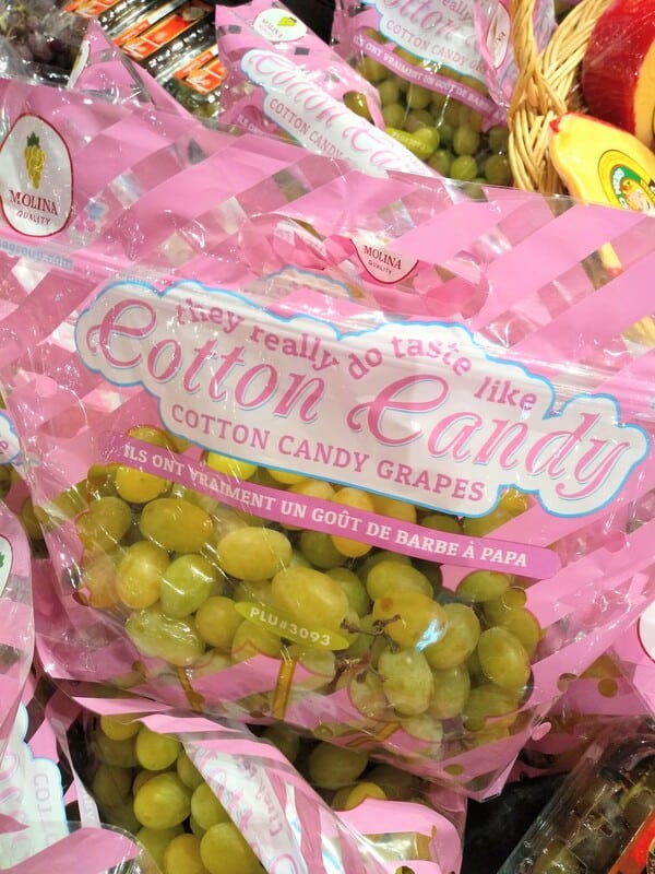 Cotton Candy Grapes at the Fresh Market from Mexico