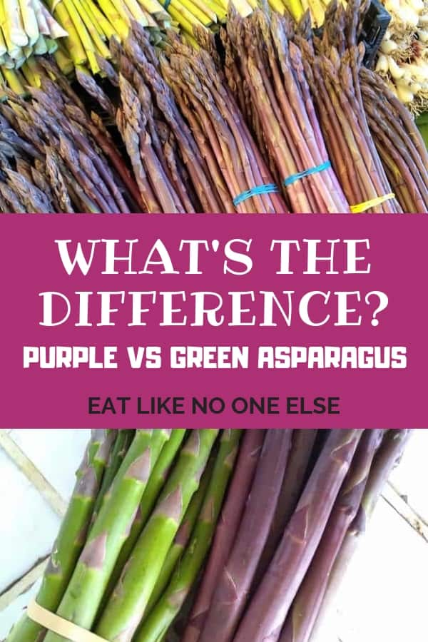 What is the Difference Between Purple and Green Asparagus