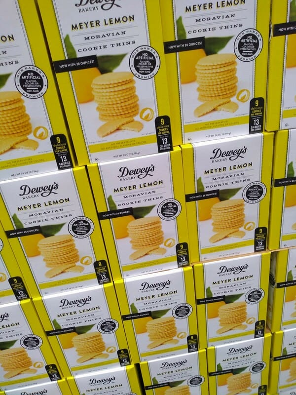 Dewey's Bakery Meyer Lemon Cookie Thins