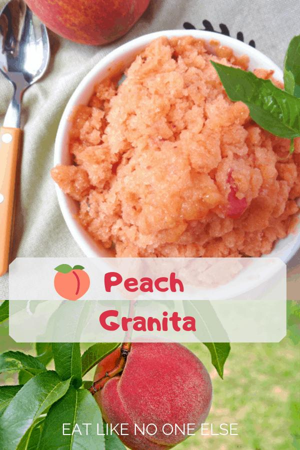 Peach Granita