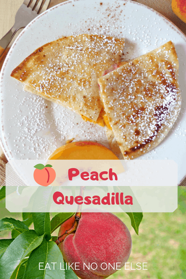 Peach Quesadilla recipe