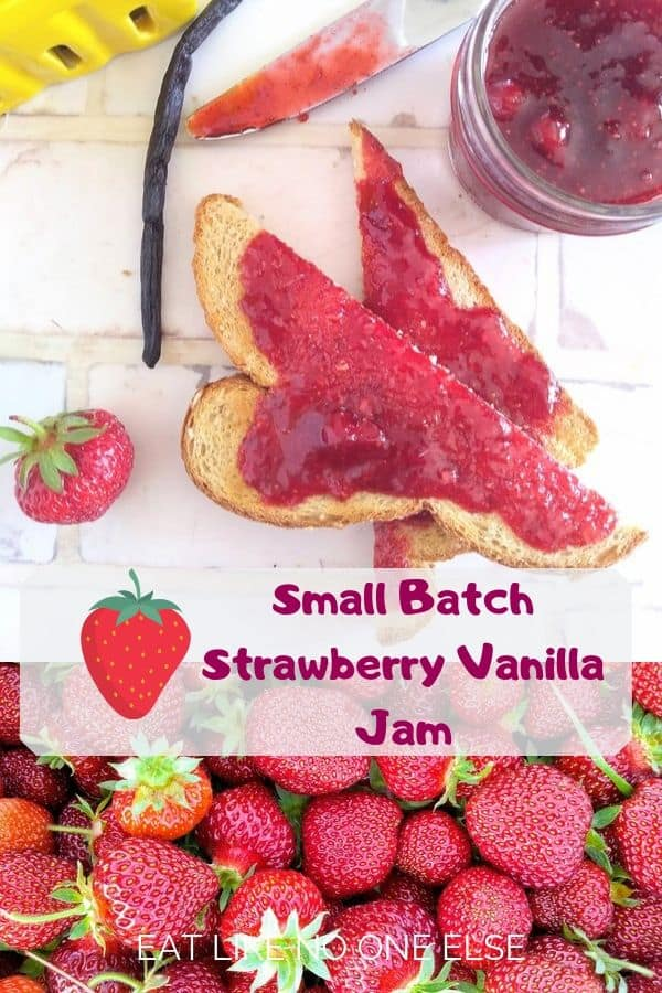 Small Batch Strawberry Vanilla Jam