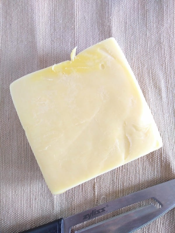 Yellowish New Zealand cheddar cheese