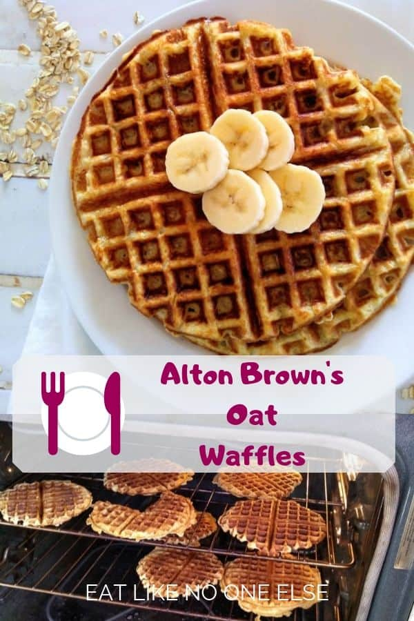 Alton Brown Waffles from Good Eats made with oat flour