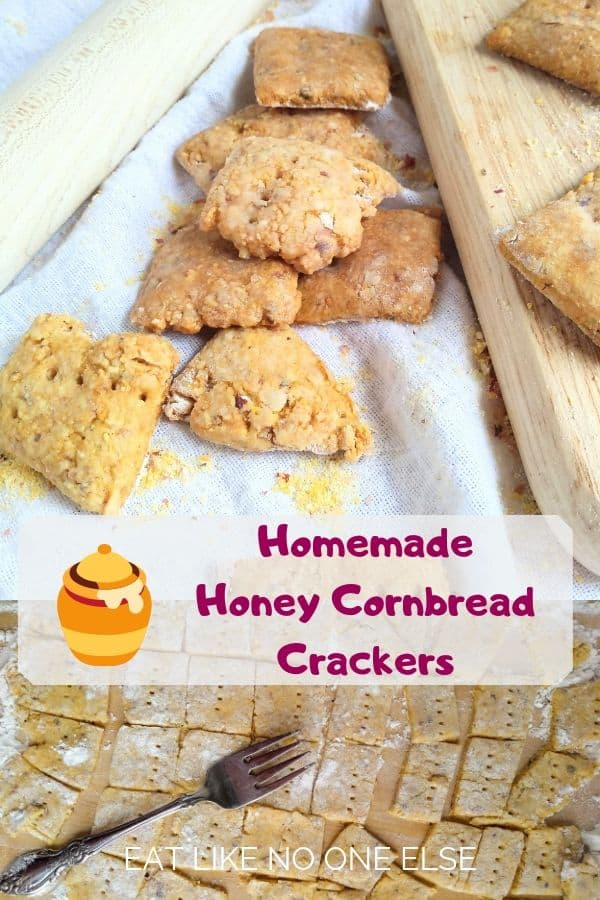 Homemade Honey Cornbread Crackers