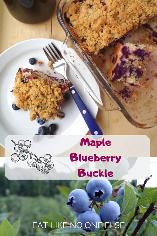 Maple Blueberry Buckle