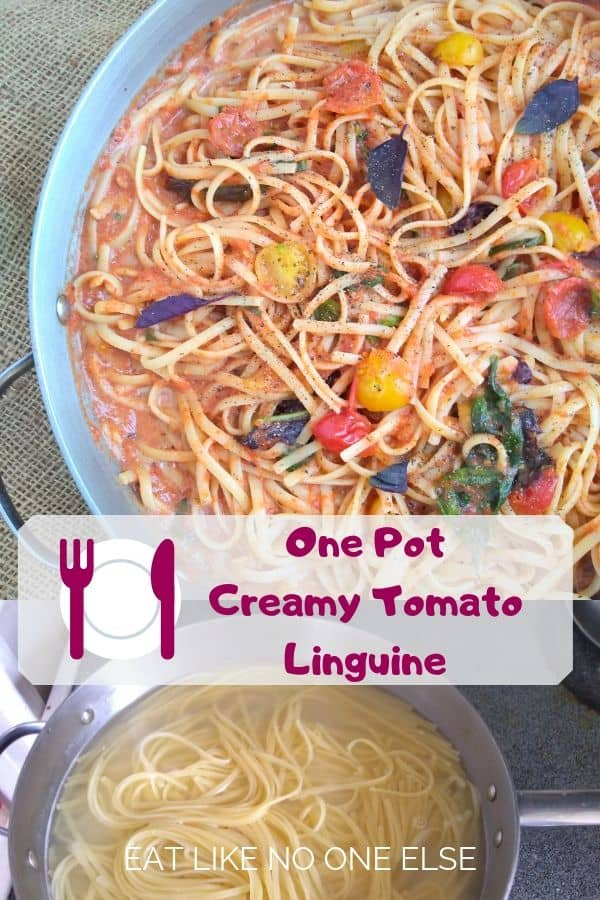 One Pot Creamy Tomato Linguine