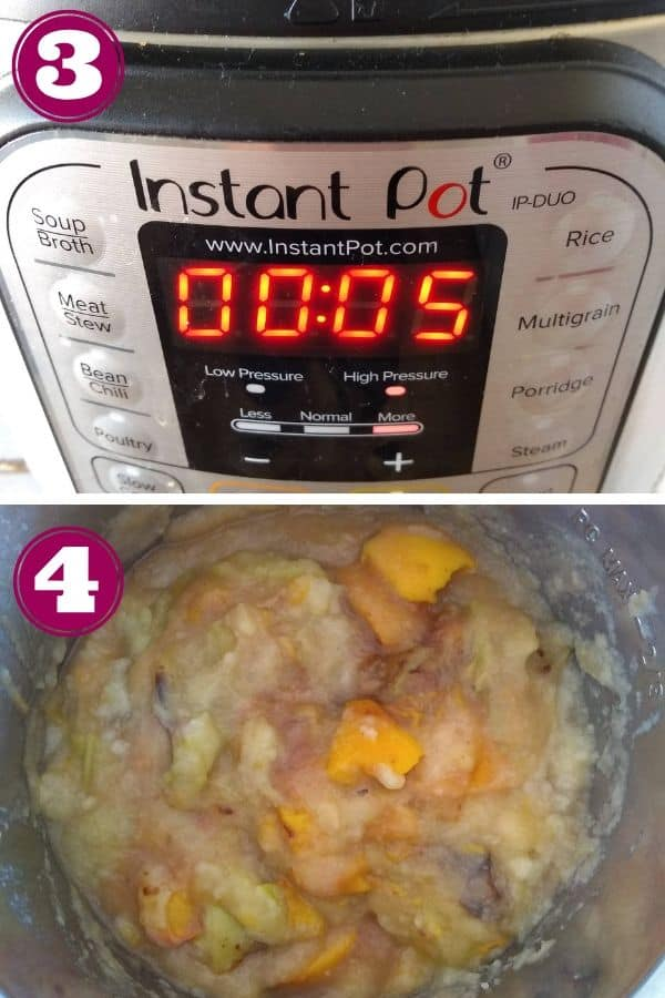 Set the Instant Pot for 5 mintues on high pressure.