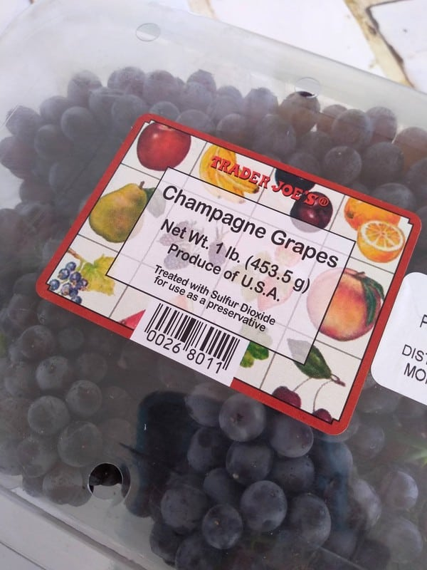 Trader Joe's Champagne grapes