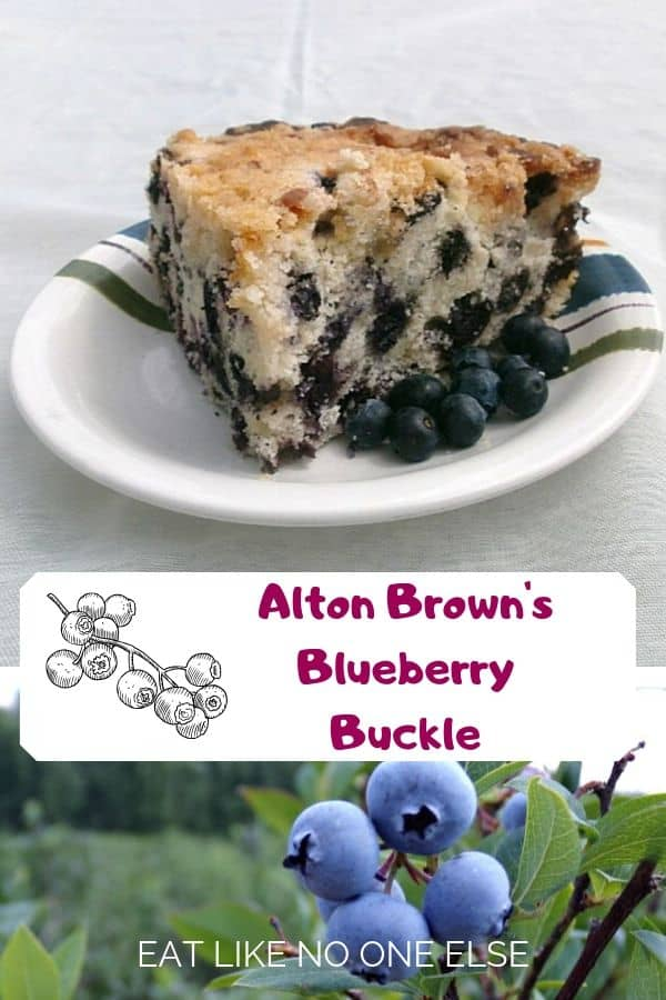 Alton Brown's Blueberry Buckle
