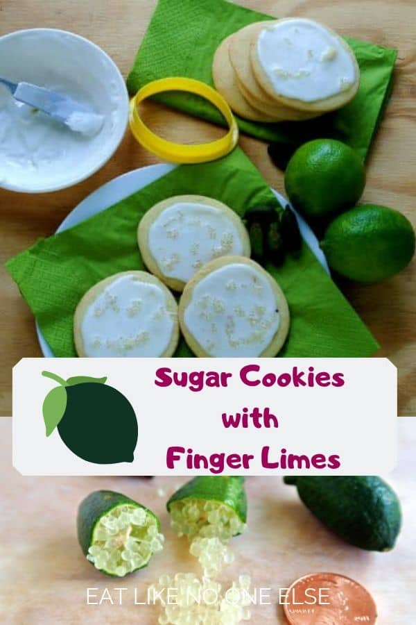 Sugar Cookies with Finger Limes