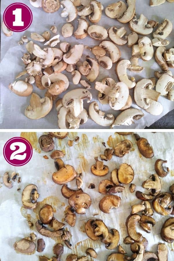 Roasted mushroom for broth