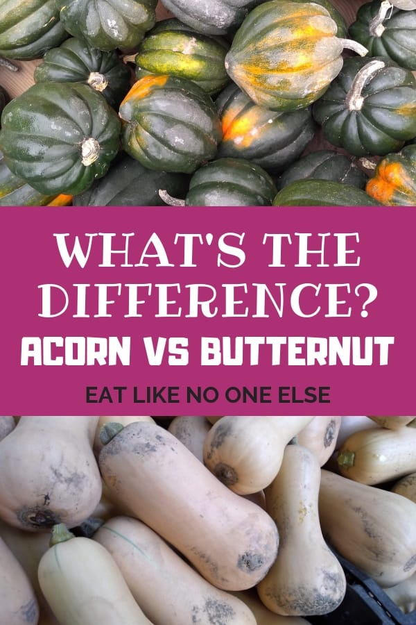 What's the Difference Acorn vs. Butternut Squash