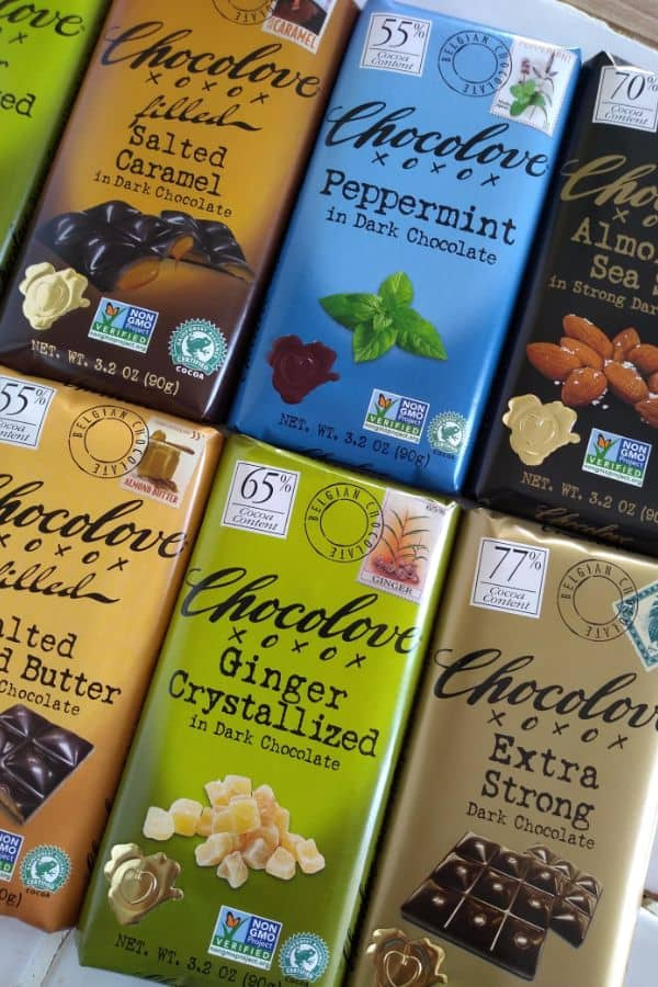 A variety of Chocolove Chocolate bars. Which would you choose?