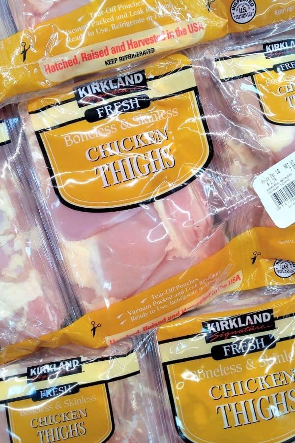 Kirkland Fresh Boneless Skinless Chicken Thighs