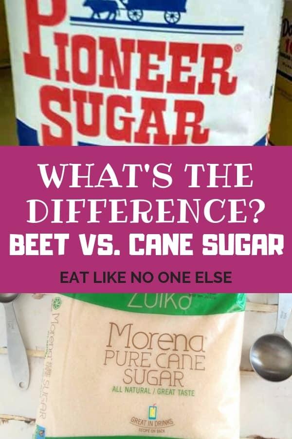 Difference Between Beet Sugar vs Cane Sugar