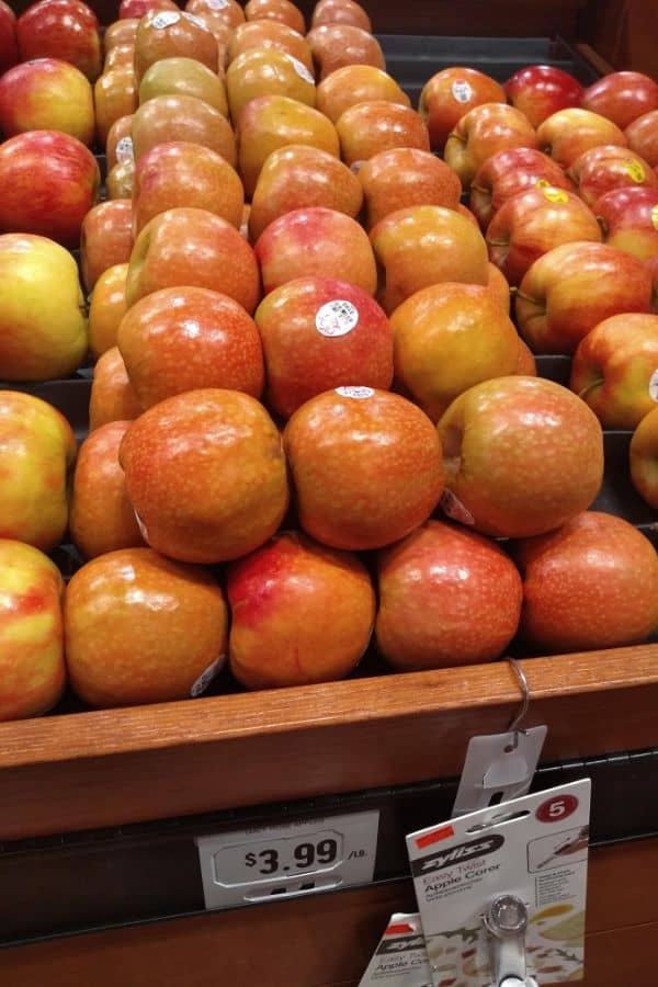 Lucy Rose apples at the Fresh Market