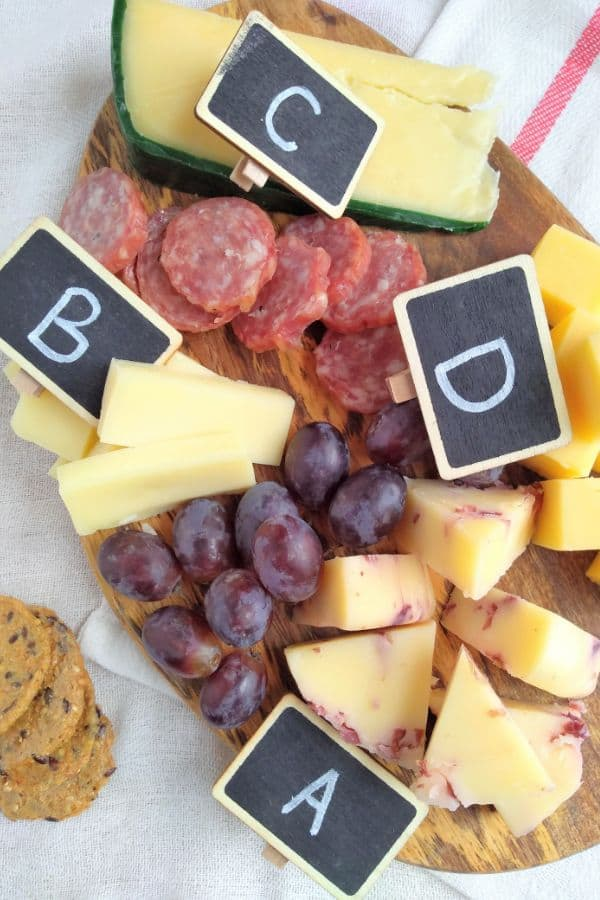 ALDI Cheese Board with Tags