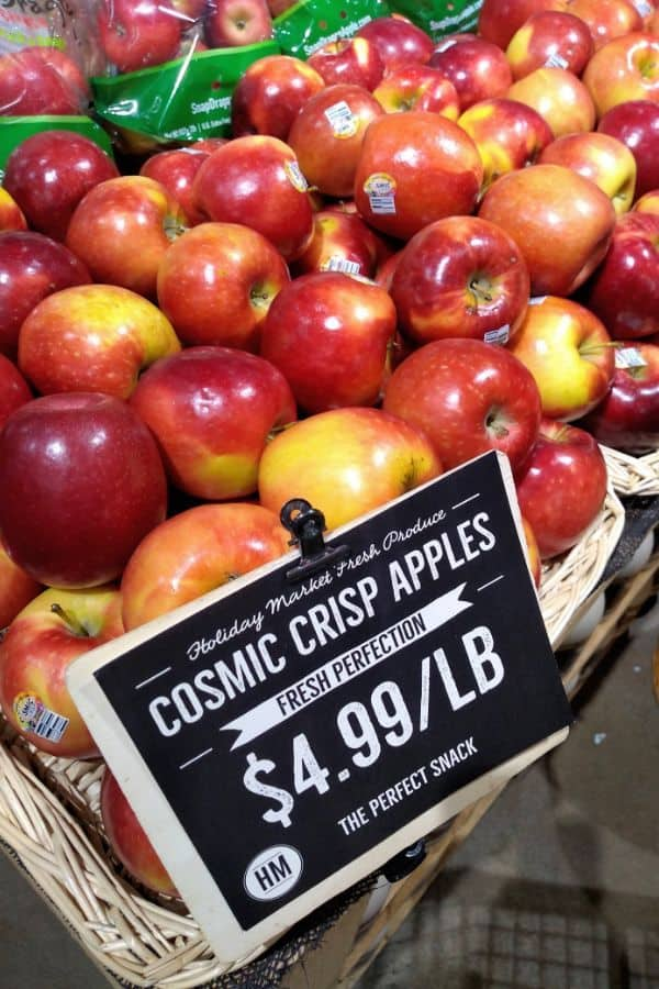 Cosmic Crisp apples at Holiday Market in Canton, Michigan