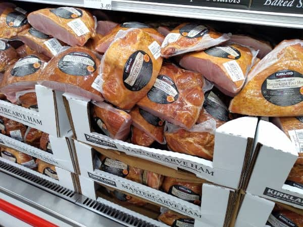 Boxes of Kirkland Master Cave Hams