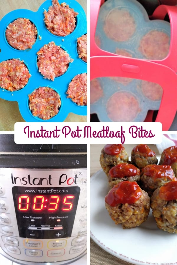Instant Pot Meatloaf Bites Collage Photo