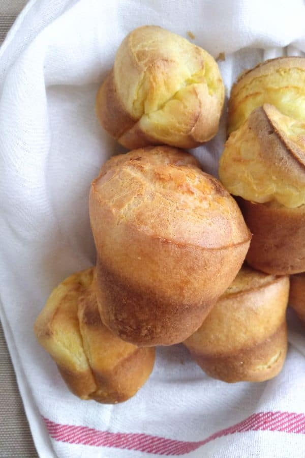 Popovers on a towel