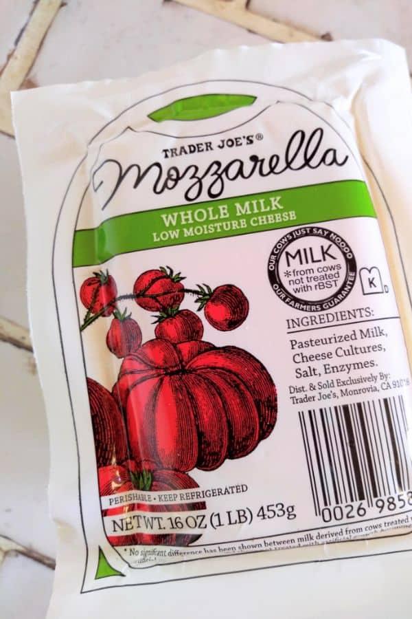 Trader Joe's Whole Milk Low Moisture Mozzarella Cheese