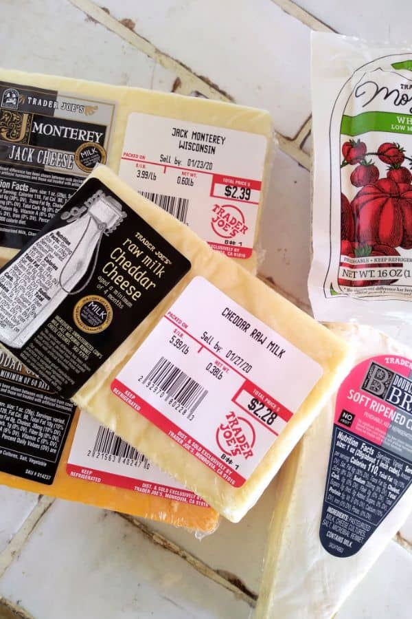 Different Cheese from Trader Joe's under $6 per pound