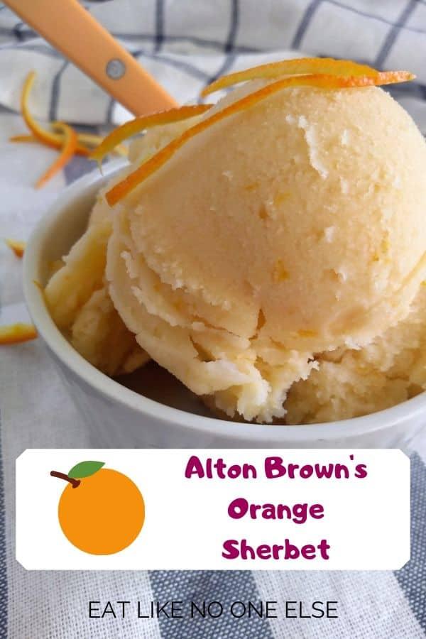 Alton Brown's Orange Sherbet