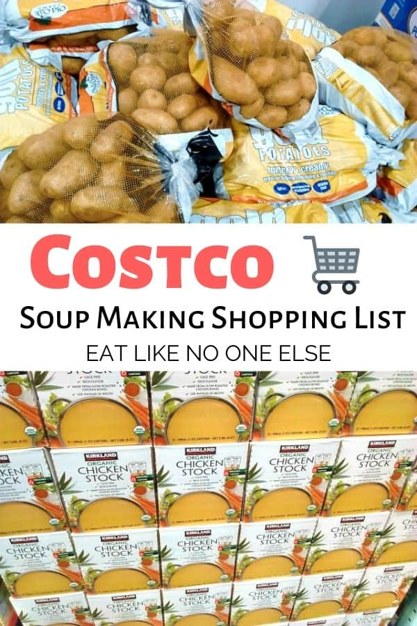 Costco Soup Making Shopping List