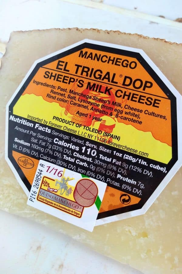 Manchego El Trigal DOP Sheep's Milk Cheese 1 year made in Toledo, Spain.