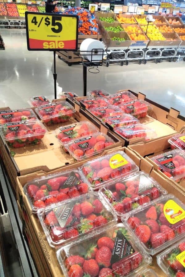 Strawberries on sale in the winter