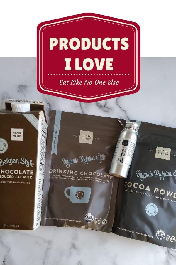 Cocoa Metro Milk, Drinking Chocolate, Chocolate & Vanilla Extract, and Cocoa Powder