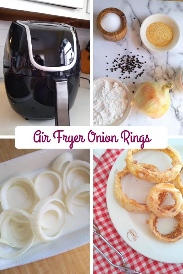 Air Fryer Onion Ring Collage