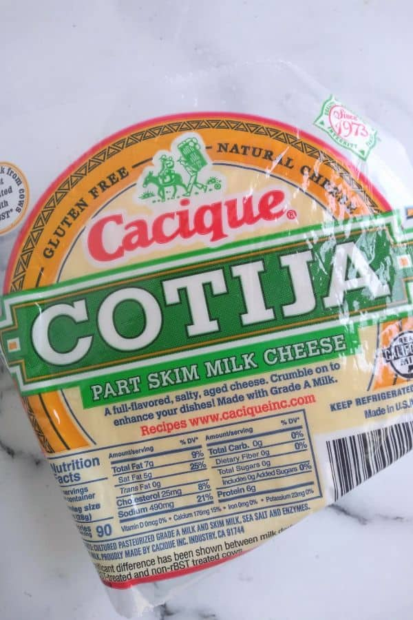 Cacique Cotjia cheese round