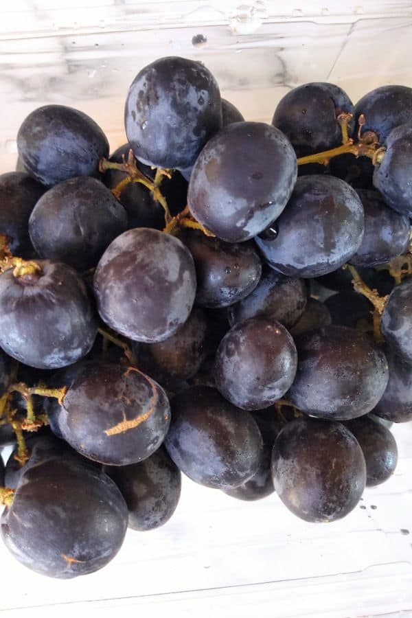 Up close pictures of Sable Seedless grapes