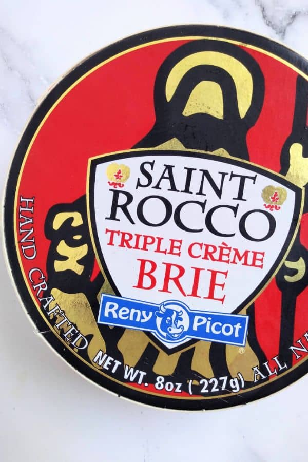 Saint Rocco Triple Creme Brie cheese from Reny Picot is pictures inside it's container