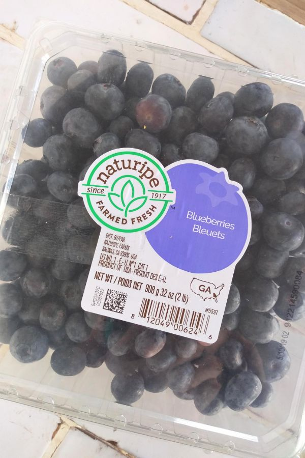 A 2 pound container of Naturipe Georgia blueberries