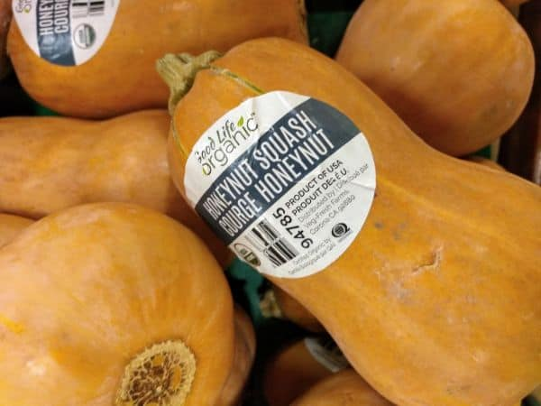 A display of Honeynut Squash